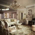 цвета и фактуры классической гостиной (22)