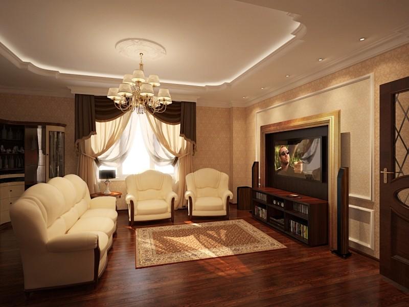 Дизайн гостиной классический стиль