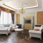 цвета и фактуры классической гостиной (4)