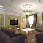 цвета и фактуры классической гостиной (6)