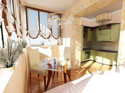 объединение балкона и квартиры (12)
