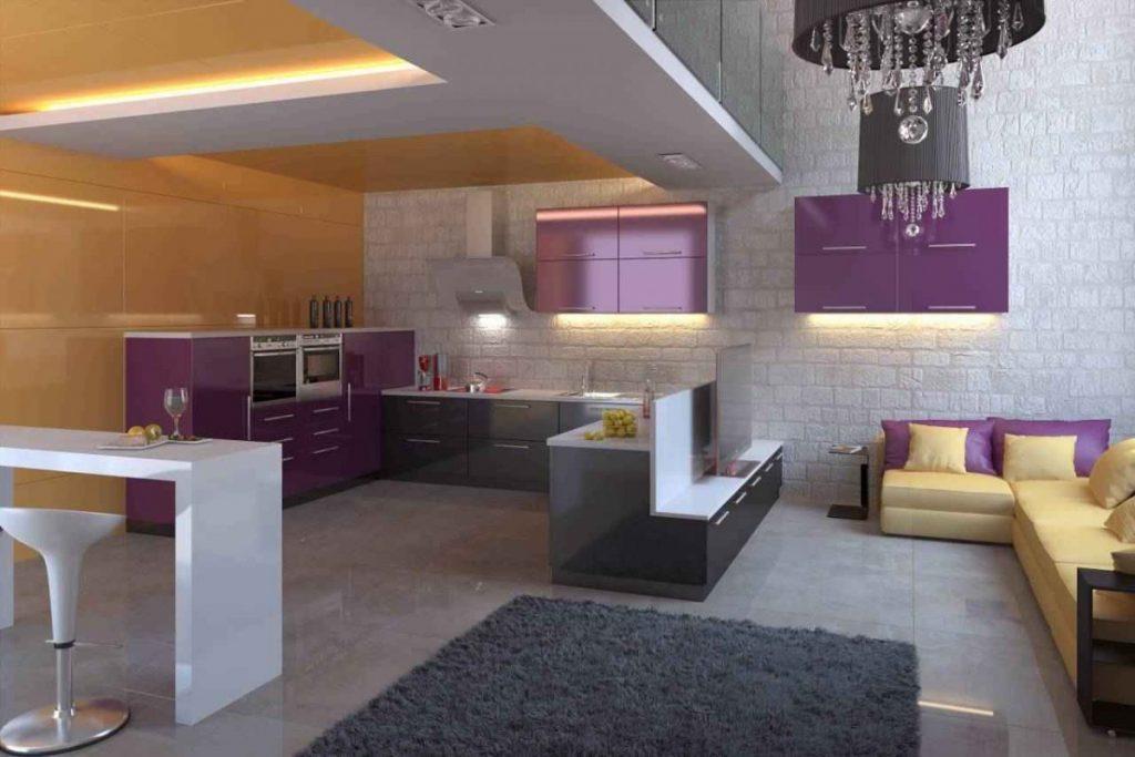 цветовая гамма кухни лофт (33)