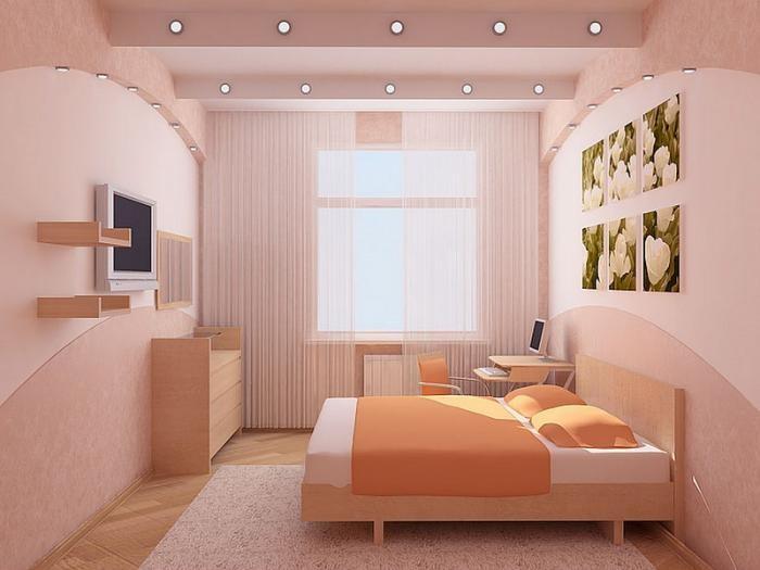 Фото дизайнов спален маленьких размеров