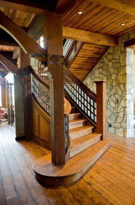 деревянные лестницы на 2 этаж (12)