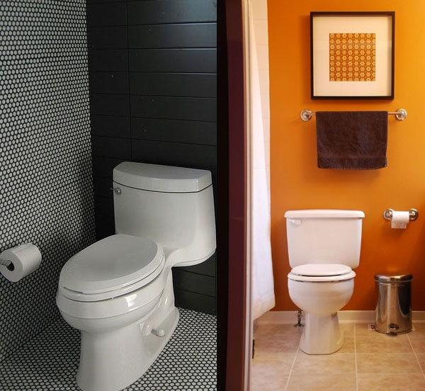 Покраска стен в туалете фото