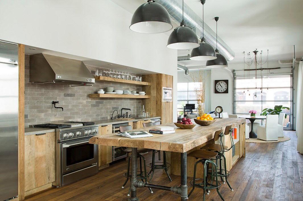 Кухня с стиле лофт своими руками 93