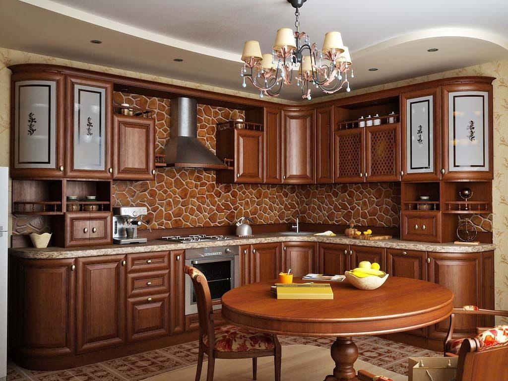 освещение в классической кухне (10)