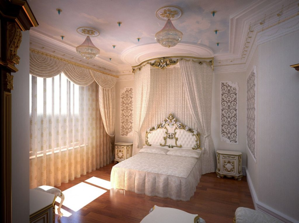 отделка спальни барокко (8)