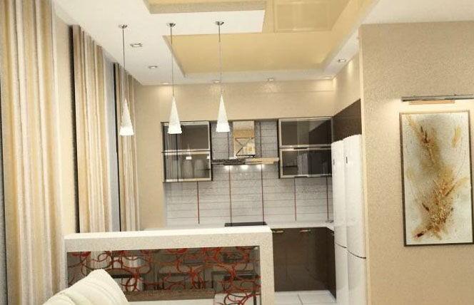 Дизайн однокомнатной квартиры (150 фото, советы, рекомендаци.