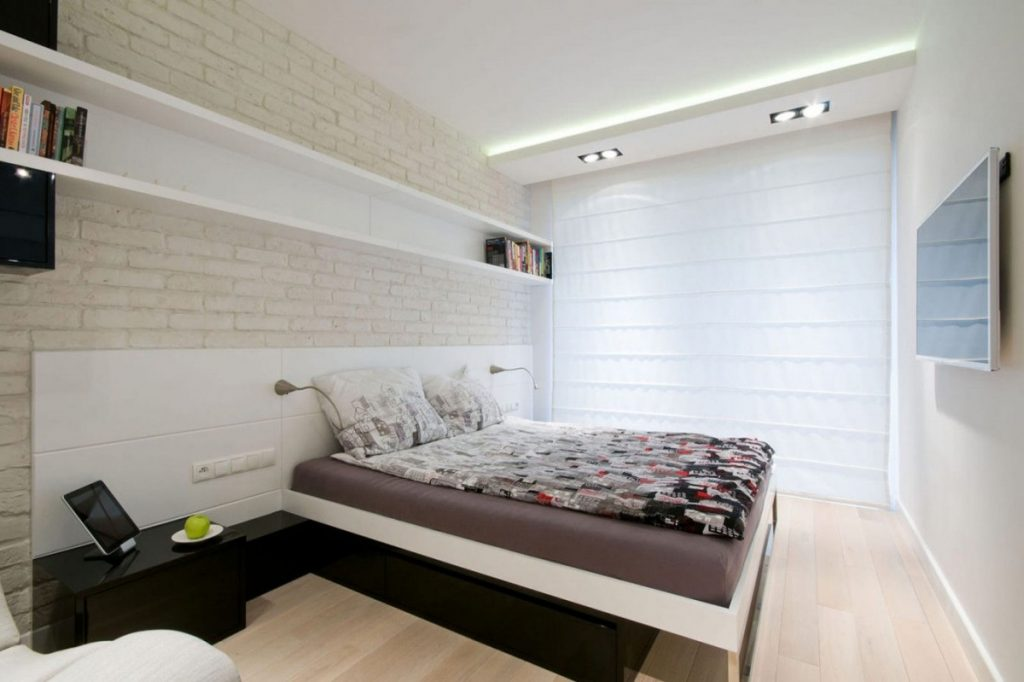 Спальня дизайн в светлых тонах 2016-2917