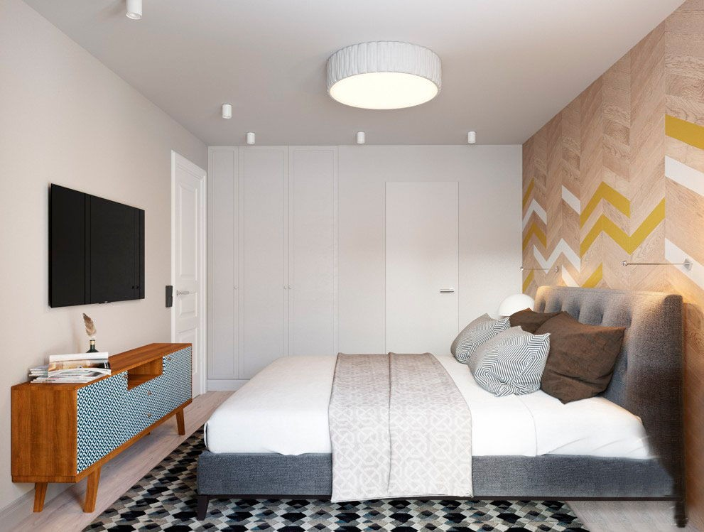 Дизайн малогабаритной спальни 2017 современные