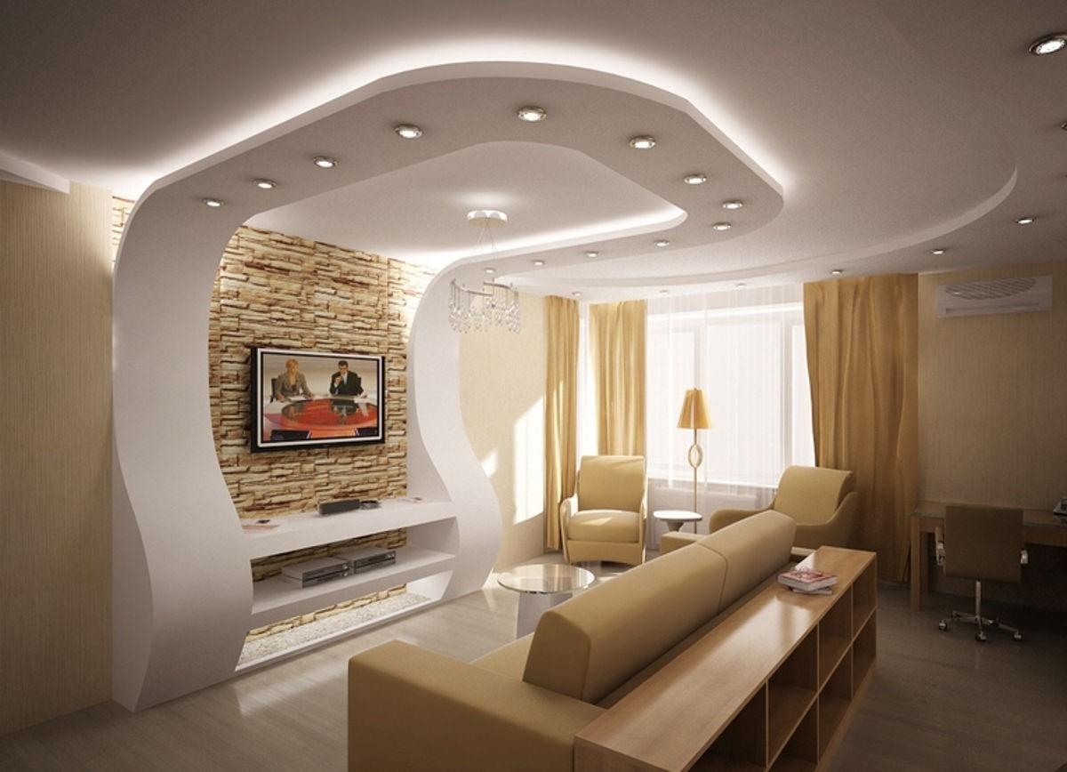 Как оформить потолок в гостиной своими руками