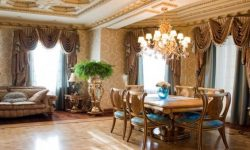 Шторы с ламбрекеном в гостиную