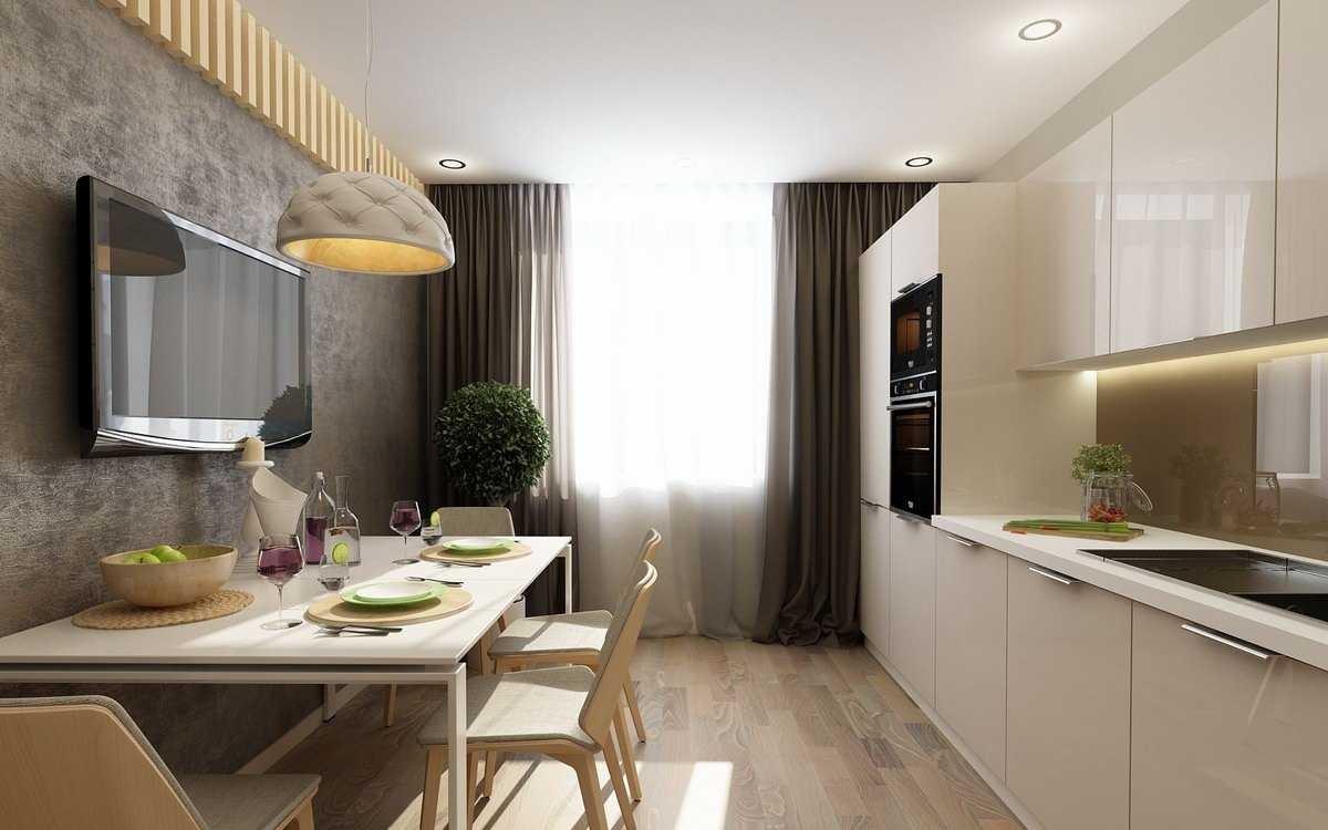 Кухня 10 кв.м с диваном дизайн