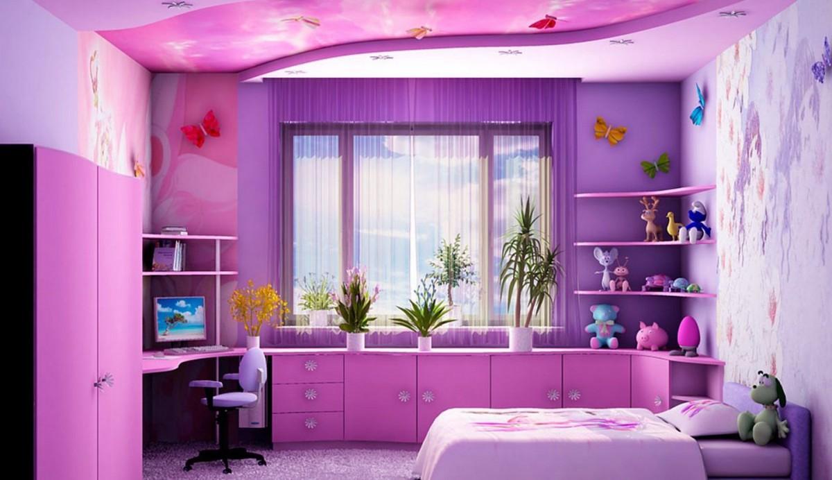Фото интерьера для детской комнаты для девочки