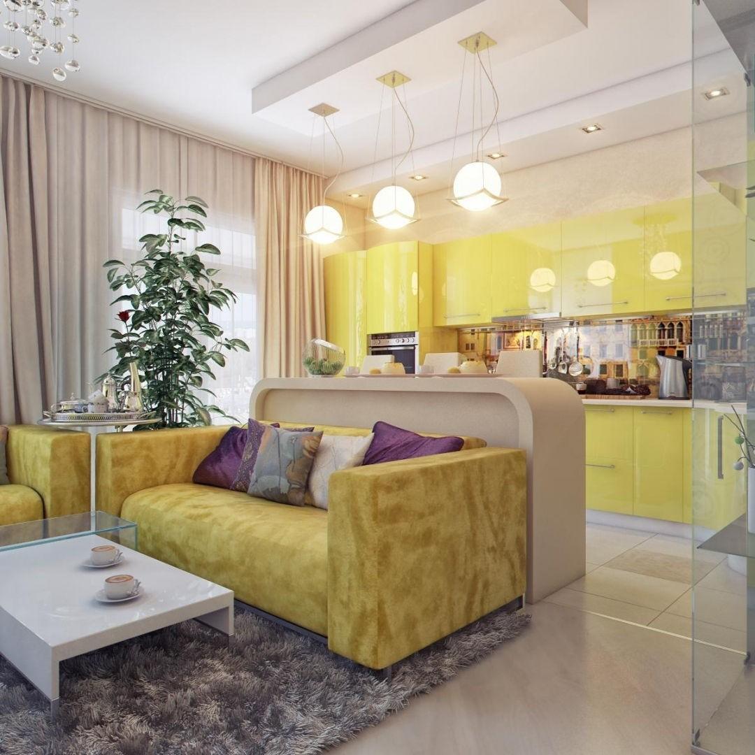 Дизайн столовой гостиной 30 квм