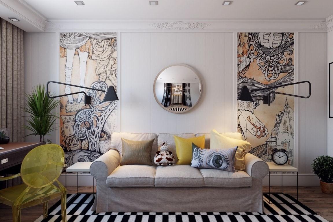 Дизайн современной маленькой гостиной фото 2018 современные идеи