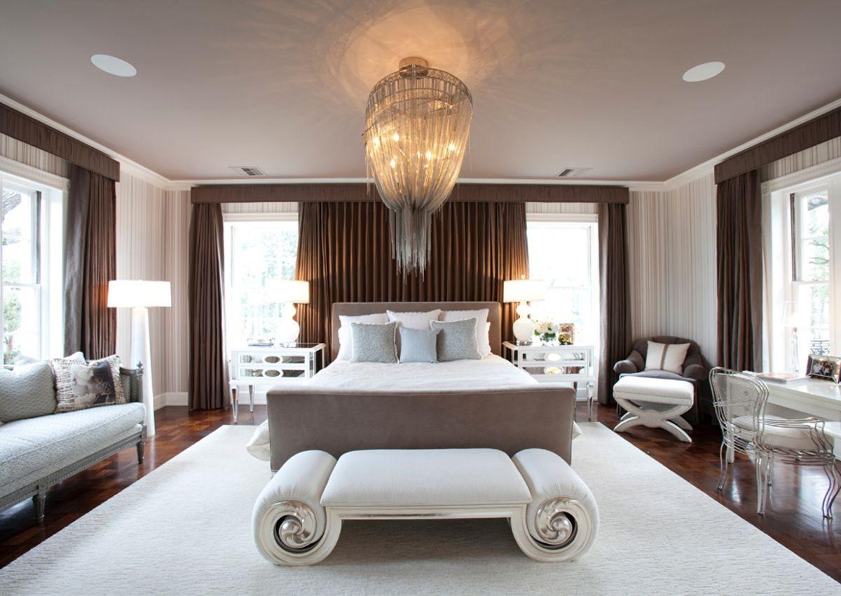 Дизайн интерьера спальни в стиле арт деко фото