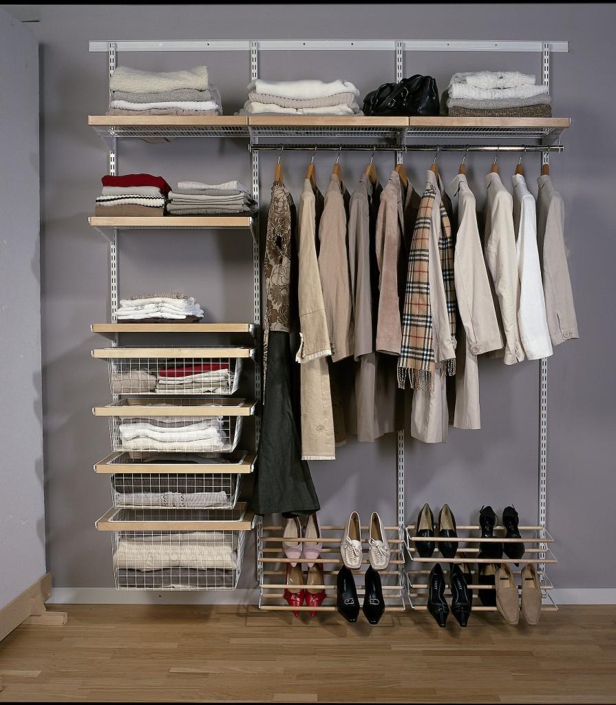 Стеллажи для гардеробной (64 фото): металлические сборные мо.