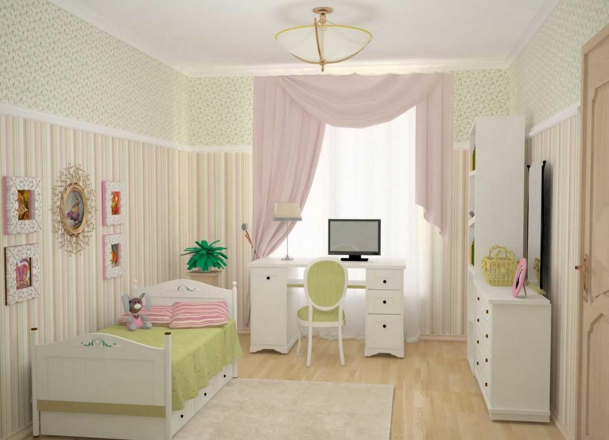 Недорогой дизайн детской комнаты фото 124