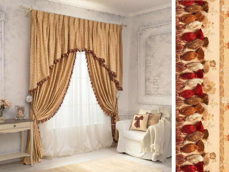 Красивые ламбрекены и шторы фото